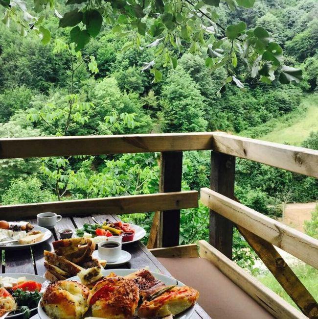 yeşillikler içinde kahvaltı ile ilgili görsel sonucu